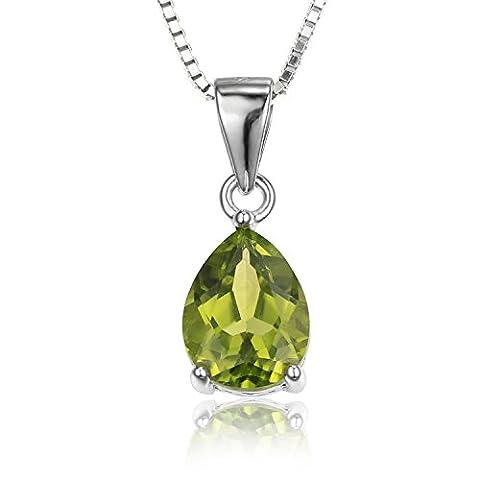 Jewelrypalace 1.46ct Tropfenschliff Grün Natürliche Peridot Olivin