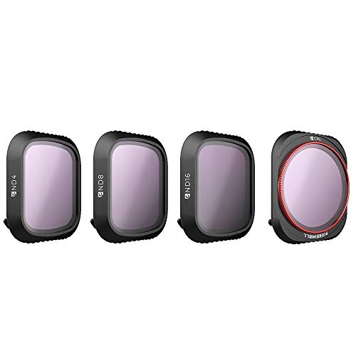 Freewell Standard Day - 4K Series - 4Pack ND4, ND8, ND16, CPL Kameralinsenfilter kompatibel mit DJI Mavic 2 Pro Drone -