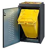 Reinkedesign Mülltonnenbox Boxxi 1x120L mit Pflanzwanne aus Aluminium RAL 7016 als Bausatz