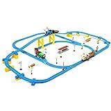 Schienen-Zug-Spielzeug-Satz, Bahn-Spielzeugauto-Rennspielzeug, Puzzlespiel elektrische mehrschichtige Bahn-Spielzeug, verwendbar für 3-12-jährige Jungen- und Mädchenspielwaren der Kinder (Color : 1)