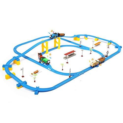 (Schienen-Zug-Spielzeug-Satz, Bahn-Spielzeugauto-Rennspielzeug, Puzzlespiel elektrische mehrschichtige Bahn-Spielzeug, verwendbar für 3-12-jährige Jungen- und Mädchenspielwaren der Kinder (Color : 1))