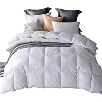 Umi. Essentials White Goose Feather and Down Duvet with 100% Cotton Down-Proof Fabric (13.5 Tog, Double)
