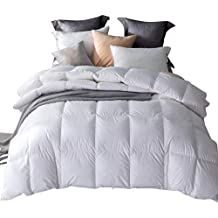 Umi. Essentials White Goose Feather and Down Duvet with 100% Cotton Down-Proof Fabric (13.5 Tog, Super King)