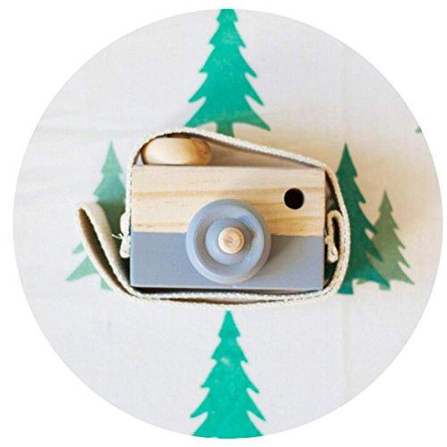 Natürliche Baby-artikel (Kleinkindspielzeug Longra Niedliche Baby Kinder Holz Kamera Spielzeug Kindermode Bekleidung Accessory Zubehör sicher und natürlich Motorikspielzeug Geburtstag Weihnachtsgeschenk Spielzeug (Gray))