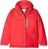Columbia Chaqueta repelente al agua para niña, Alpine Free Fall Jacket, Nailon, Rojo (Red Camellia/Atoll), Talla L, 1557121
