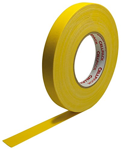 Cellpack 145967900.305-25-25,-Schleifenband Stoff, beschichtete Baumwolle, gelb