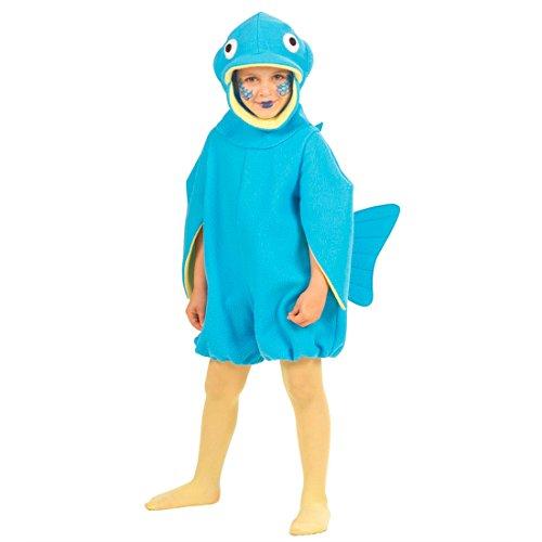 Meer Kinder Kostüm - Kinder Fischkostüm Blauer Fisch Kostüm XS 110cm 3-4 Jahre Fische Kinderkostüm Fasching Overall Tierkostüm Fish Faschingskostüm Meer Karnevalskostüm Tier Mottoparty Verkleidung Karneval Kostüme
