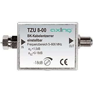 Axing TZU 8-00 Cable TV Adjustable Signal Equalizer (5-606 MHz) with F-connectors