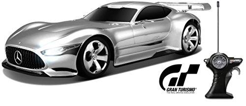 Maisto Tech R/C Mercedes AMG Vision GT: Ferngesteuertes Auto im Maßstab 1: 18, mit Pistolengriff-Steuerung, Hinterradantrieb, ab 8 Jahren, 27 cm, Chrom (582164)