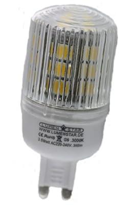 LumenStar® LED G9 Lampe 3,5 Watt - 300lm, 3000K warmweiß, 270° Abstrahlwinkel, ersetzt 30W - Monza von LumenStar® - Lampenhans.de