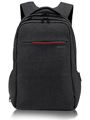 Norsens NS3130B Laptop Backpack (geignet für bis zu 15,6-Zoll-Laptops/Notebook) Schwarz (Backpack Canvas Buch-tasche)