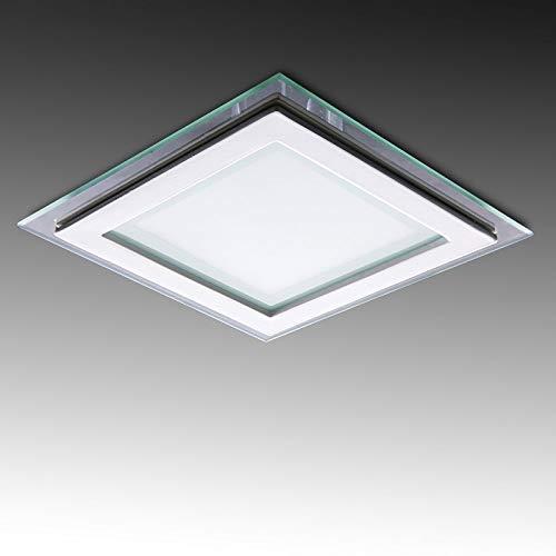 Greenice | Foco Downlight LED Cuadrado con Cristal 160X160Mm 12W 900Lm 30.000H...