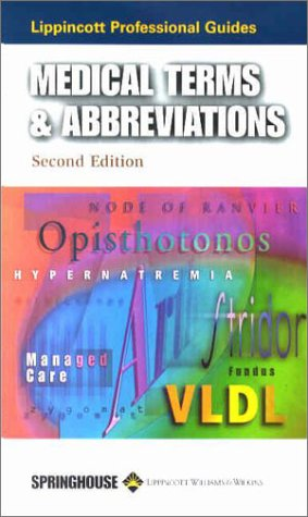 Medical Terms and Abbreviations (Professional Guide Series)