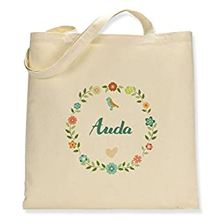 Floral Auda - Canvas Tote Bag - Single Sided