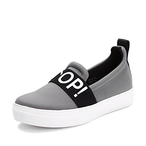 Molla/olio su tela piattaforma scarpe/Donne scarpe del pedale/Scarpe con la suola spessa Grigio