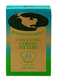 Unbleached Coffee Filters #4 100 Count
