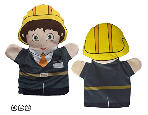Cuddly Toys Engineer / Construction Worker Hand Puppet for Kids & Adults (12inch)