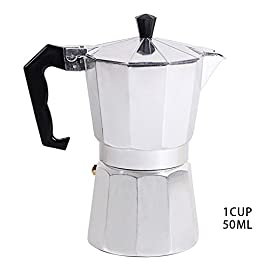 Aluminum Espresso Percolator Maker, 1cup/50ML Italian Stove top/Moka Espresso Coffee Maker/Percolator Pot Tool