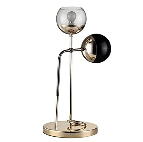 Jingzou Modern, personality, double head, glass ball, table lamp, bedroom,