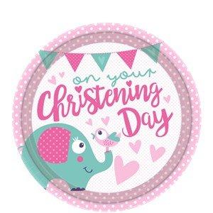 piastre-battesimo-giorno-rosa-23cm-piastre-del-partito-della-carta