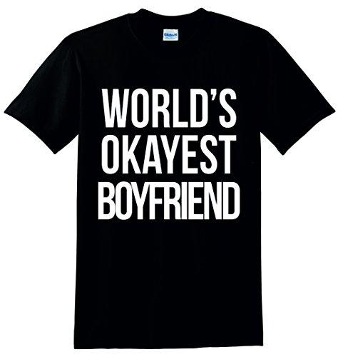 World 's Okayest Boyfriend Unisex Sweatshirt Jumper Schwarz - Schwarz