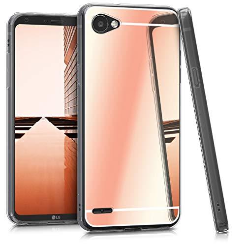 kwmobile LG Q6 / Q6+ Hülle - Handyhülle für LG Q6 / Q6+ - Handy Case in Rosegold spiegelnd