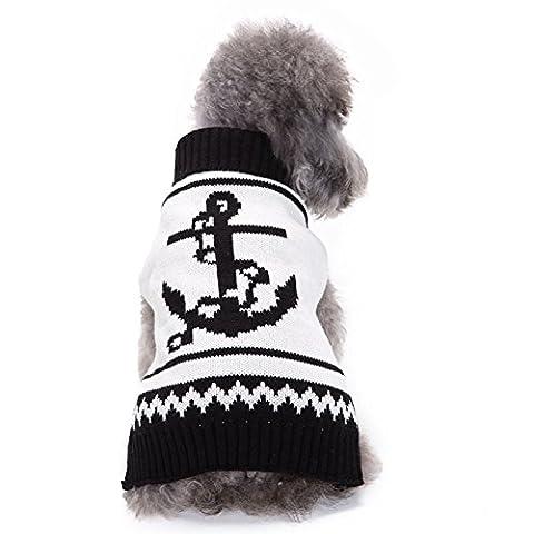 Moolecole-kühles Haustier-Kostüm-Halloween-Boots-Anker-Haustier-Kleidung Hunde-Sweatshirt (Kühle Superheld Kostüme)