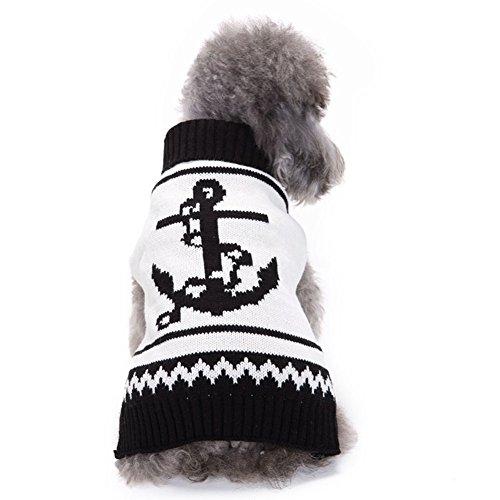 Moolecole-kühles Haustier-Kostüm-Halloween-Boots-Anker-Haustier-Kleidung Hunde-Sweatshirt (Pokemon Familie Kostüme)
