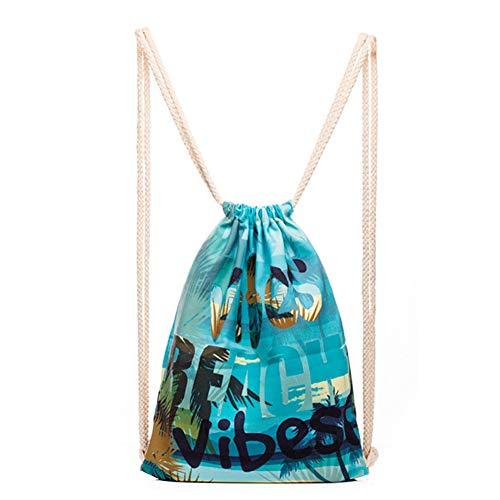 Cinch-kordelzug Schulter Tasche (jingyuu Ostern Wasserdichtes Gym Faltbarer Schulter Tasche mit Kordelzug Rucksack Polyester Cinch/Aufbewahrungstasche, C, Small)