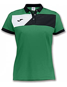 Joma POLO CREW II M/C VERDE-NEGRO MUJER - Polo deportivo, Mujer, Verde - (VERDE-NEGRO)