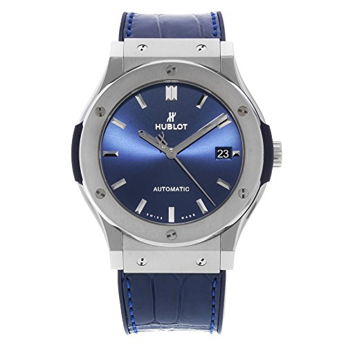 Hublot Classic Fusion Blau Sonnenstrahl Zifferblatt Titan Automatik Herren Armbanduhr 511. NX. 7170. LR