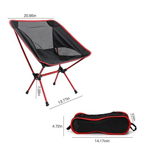 Rucksack Klappstuhl (Klappsessel Camping Stuhl von lintimes Tragbarer Klappstuhl Outdoor Travel Stuhl mit atmungsaktivem Netzstoff 150kg Tragkraft für Wandern Angeln Picknick Beach Camping Ourdoor Aktivitäten)