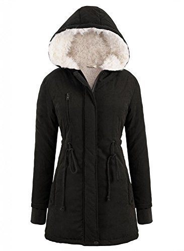 minetom-damen-fleece-winter-mantel-zip-kapuzen-parka-mantel-lange-jacke-kapuzenpullover-schwarz-m