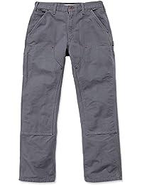 Carhartt Pants Double Front Work EB136, Farbe:gravel, Größe:w 38 / l 36