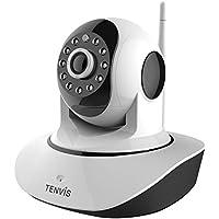 Tenvis T8810 - Caméra IP Wi-Fi motorisée, HD 720P (1.0 mégapixels), Vision nocturne, Slot microSD, ONVIF, P2P Plug & Play