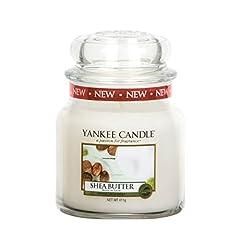 Idea Regalo - yankee candle Candela a Vaso Medio, Burro di Karitè
