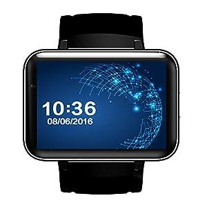 AXDNH Männer-Uhr GPS-Bewegung Positionierung Navigation WiFi Wireless Internet HD-Kamera Videoanruf Gesundheit Monitoring Schrittzähler Smart Armband,Black