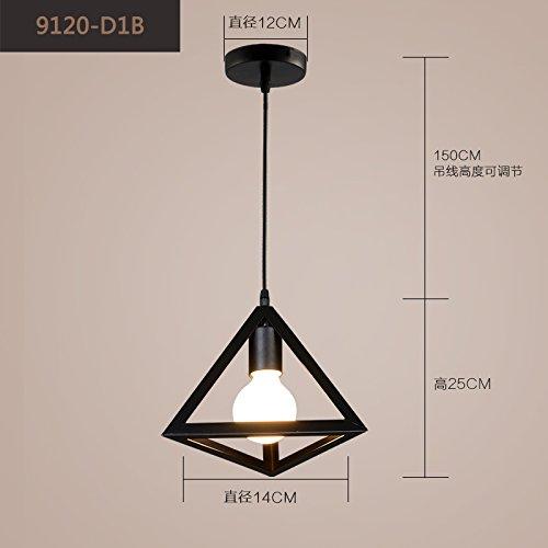 Ancernow E27 caldo creativo moda lampade a sospensione Retro-gabbia in ferro-B Lampadari per soggiorno, camera da letto, bar, caffetteria, ristorante, corridoio, camera bambini