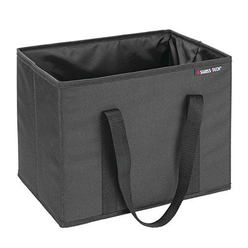Swiss Tech ST80120EU Kühltasche/Isoliertasche für den Kofferraum für Einkäufe, Getränke, Unterwegs - Schwarz -