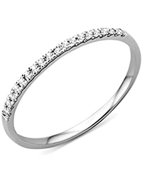 Miore Memoire Damen-Ring 375 Weißgold Brillanten 0,09ct MP9011RM