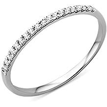 Miore MP9011R - Anillo de mujer de oro blanco (9k) con diamantes
