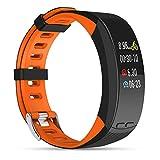 ZY Reloj Impermeable Fitness Tracker Pulsera P5 Smart Color Pulsera Deportiva GPS Deportes al Aire Libre,C