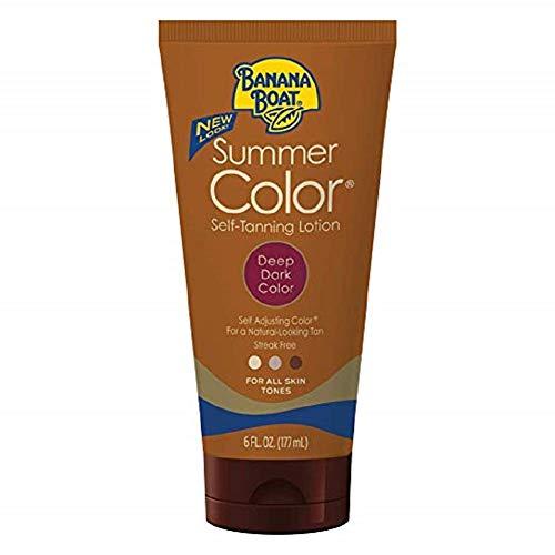 Banana Summer Colour Sunless Tinted Lotion 177ml Deep Dark -
