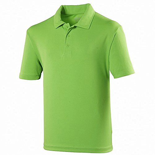 Just Cool Kinder Unisex Sport Polo Shirt Limette