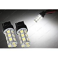 2x t20580WY21W 7440582LED 18SMD HID lámpara de xenón blanco 12V de coche luz lámpara