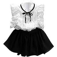 ❥Elecenty Bekleidungssets Prinzessin Baby Kleid, Mädchen Outfit Kleider  Kleinkind Blumenmuster T-Shirt Tops 732a678c39