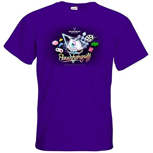 getshirts - Rocket Beans TV Official Merchandising - T-Shirt - Plauschangriff Purple