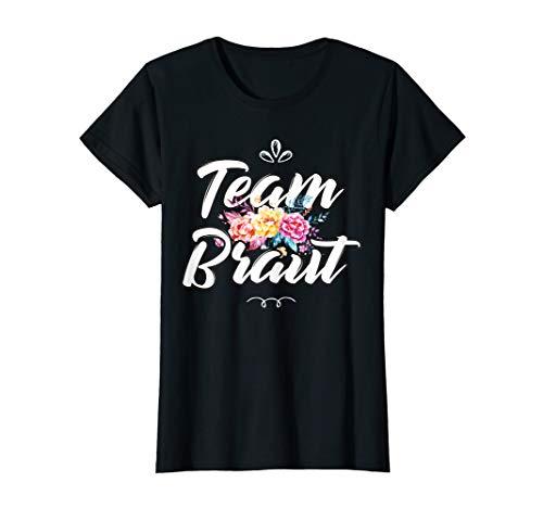 Damen Team Braut JGA Outfit Junggesellinnenabschied Blumen Bride T-Shirt