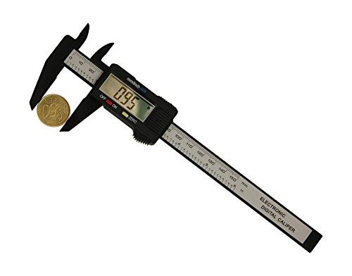 Digital Messschieber 150 mm - Kohlefaser - Mit Etui