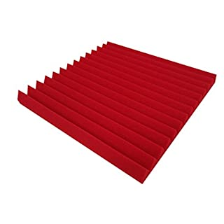 Akustikpur Triangle Profile Approx. 49 cm x 49 cm / 5 cm – Colour Selection: Wave Panels, Sound Absorber with Triangular Profile, Acoustic Foam Lamellas Pyramid Acoustic Foam Acoustic Insulation